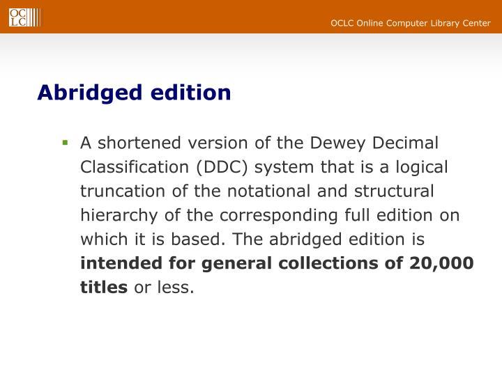 Abridged edition