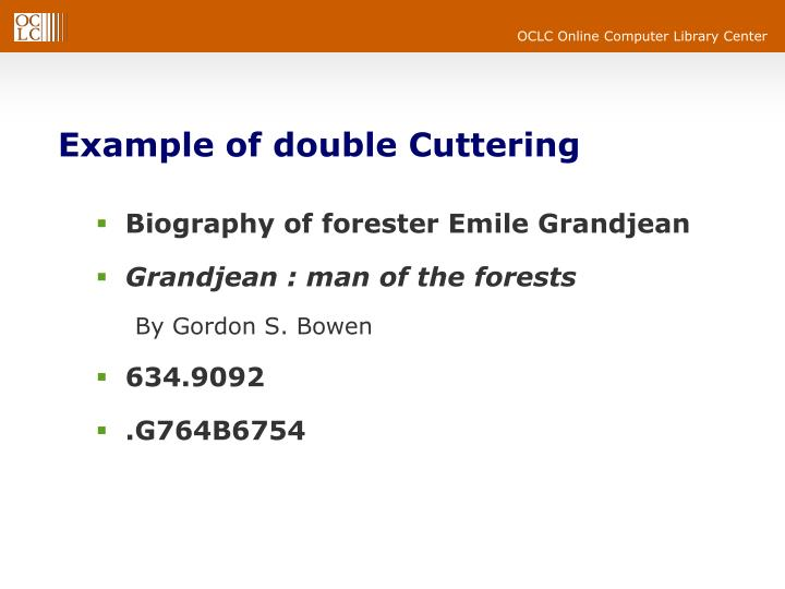 Example of double Cuttering