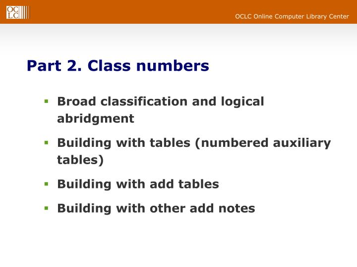 Part 2. Class numbers