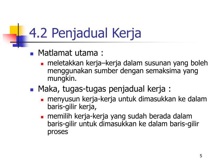 4.2 Penjadual Kerja
