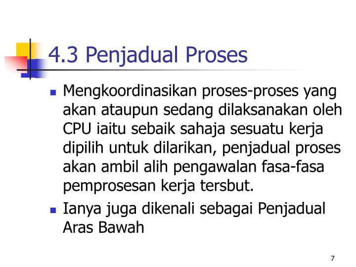 4.3 Penjadual Proses