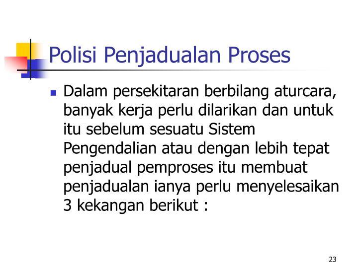 Polisi Penjadualan Proses