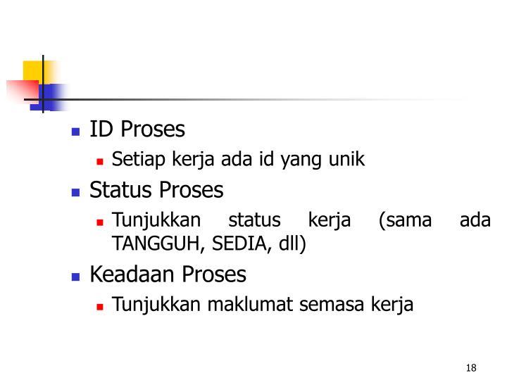 ID Proses