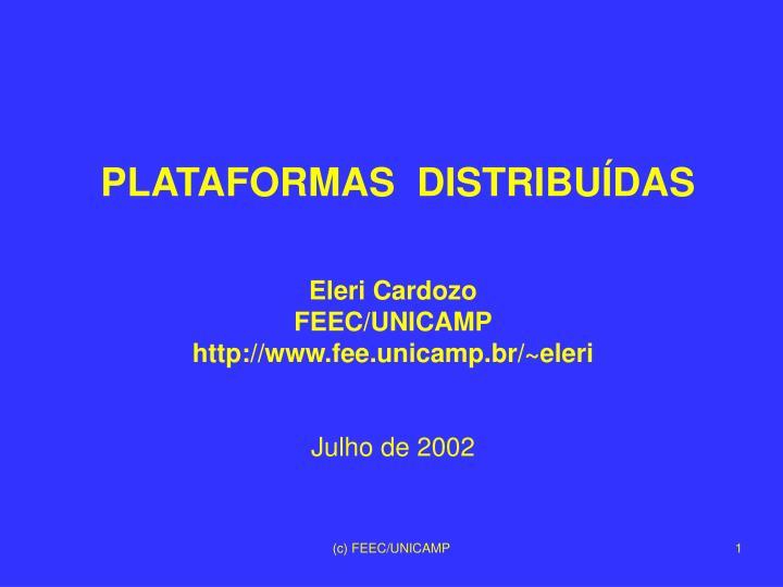 plataformas distribu das n.