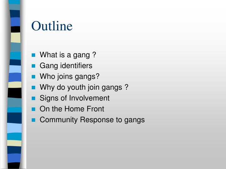 why do teens join gangs This is the reason why gangs are often infested with school drop-outs and juvenile delinquents - join in open defiance of a system that they do not feel belonged to darren's case however offered a different perspective here as he seems to have come from a reasonably sound family unit and good grades.