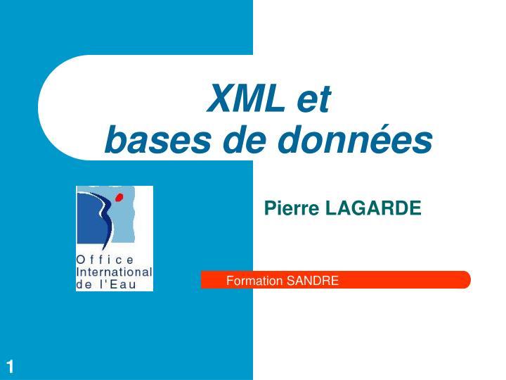 xml et bases de donn es n.