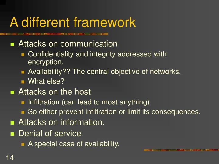 A different framework