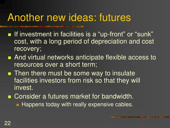 Another new ideas: futures