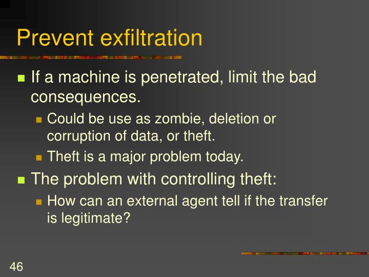 Prevent exfiltration