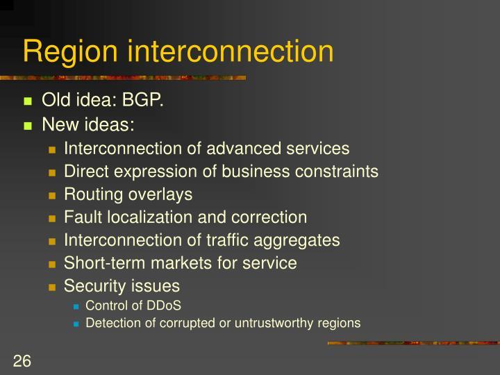 Region interconnection
