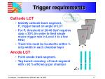trigger requirements