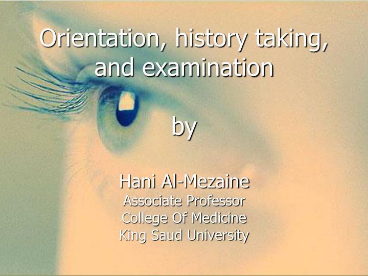 PPT - Orientation PowerPoint Presentation, free download
