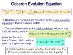 odderon evolution equation1