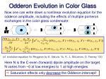 odderon evolution in color glass