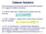 odderon solutions