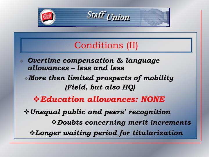 Overtime compensation & language allowances