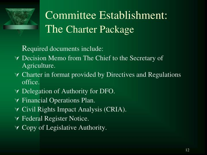 Committee Establishment: