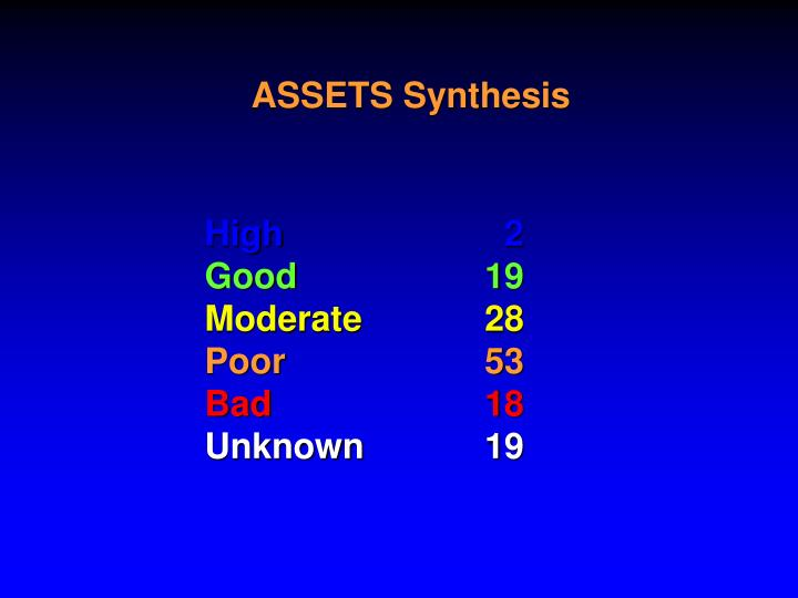 ASSETS Synthesis