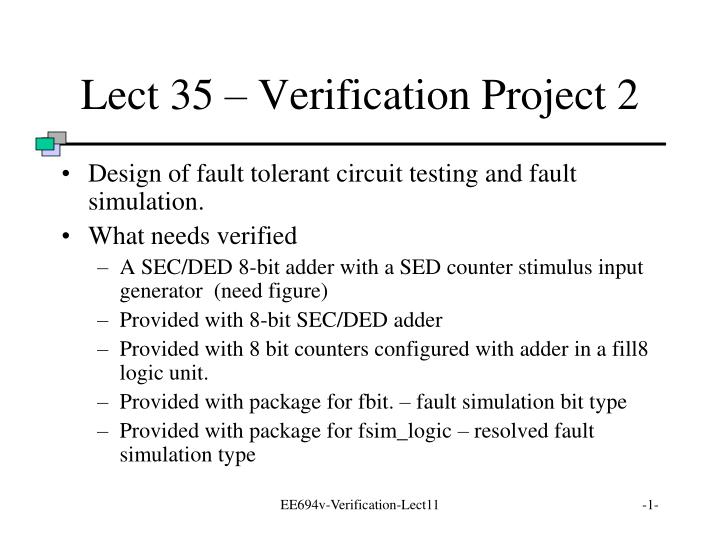 lect 35 verification project 2 n.