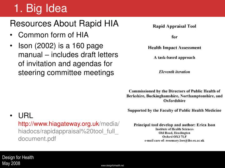 Resources About Rapid HIA