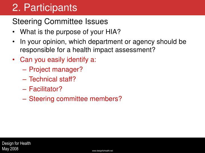 Steering Committee Issues