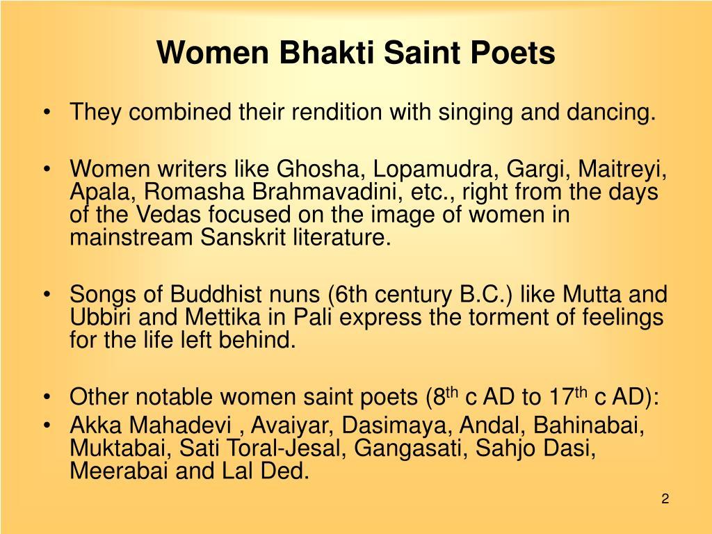 PPT - Women Saint Poets PowerPoint Presentation - ID:3283856