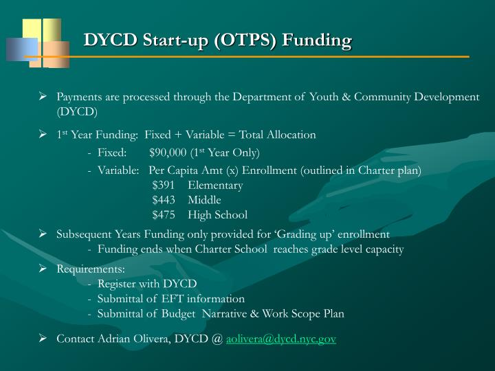DYCD Start-up (OTPS) Funding