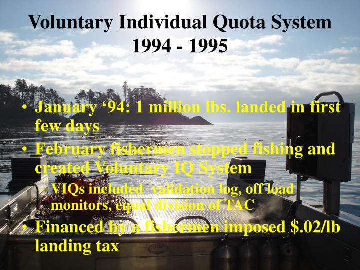 Voluntary Individual Quota System