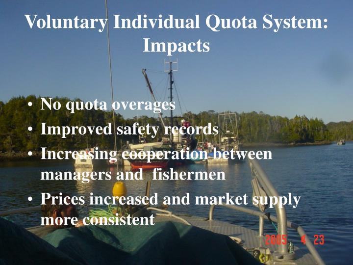Voluntary Individual Quota System: