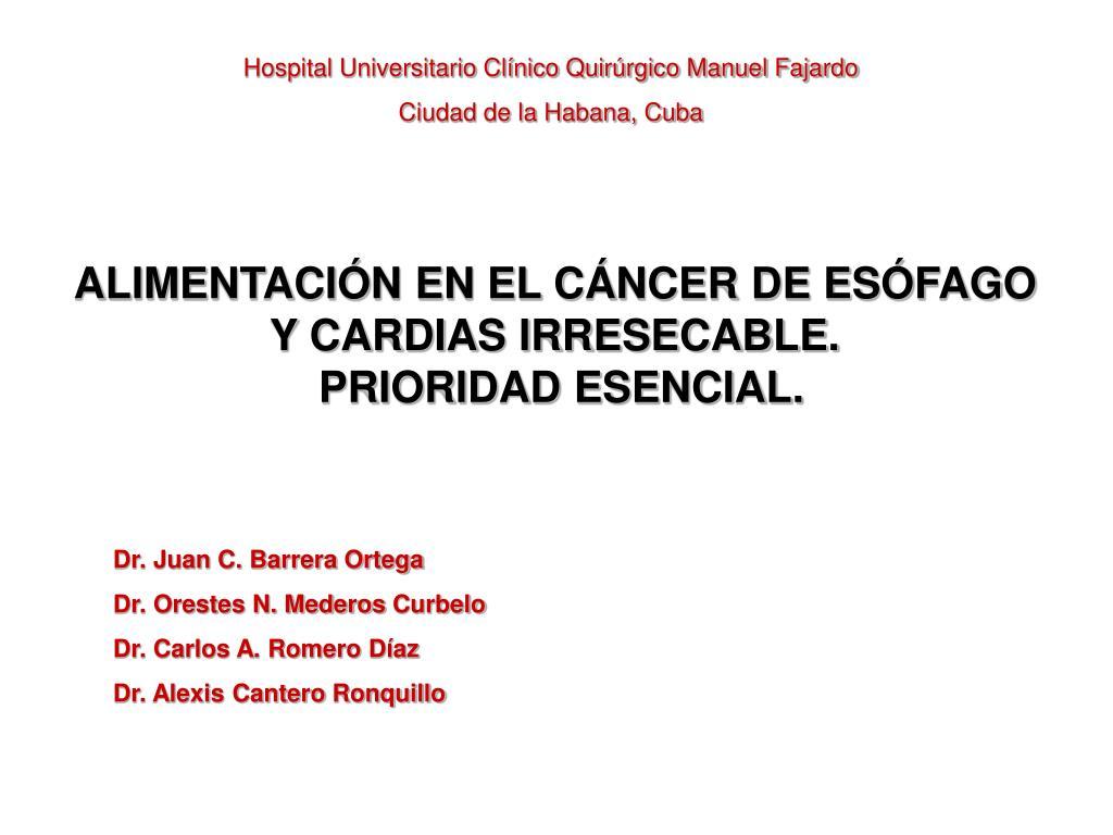 PPT - Hospital Universitario Clínico Quirúrgico Manuel..