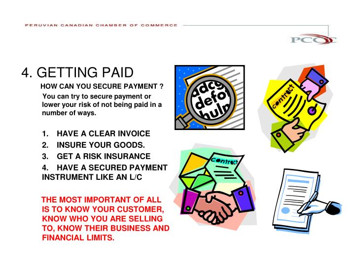 4. GETTING PAID