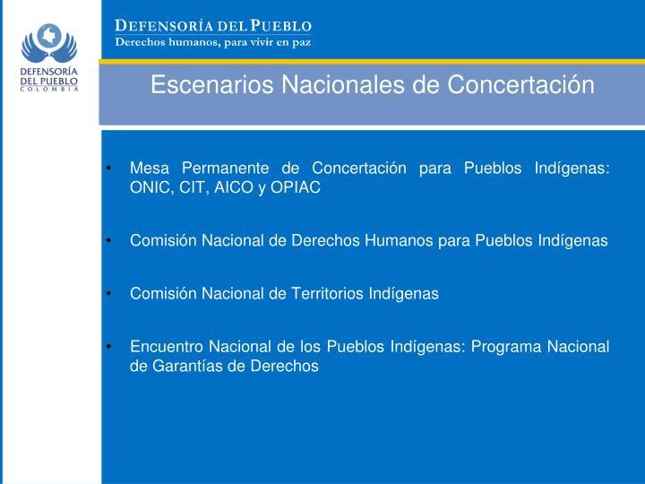 Escenarios Nacionales de Concertación