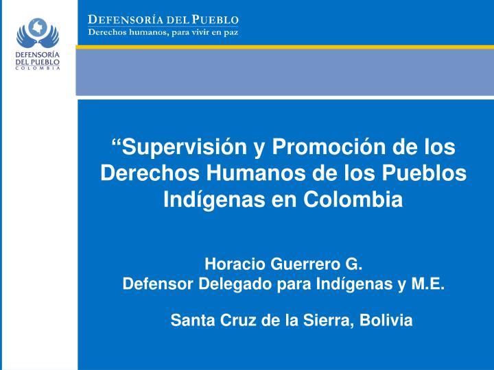Supervisi n y promoci n de los derechos humanos de los pueblos ind genas en colombia