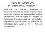 que es el derecho internacional publico