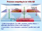 processes competing in or with qe