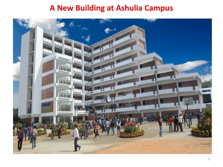 A New Building at Ashulia Campus