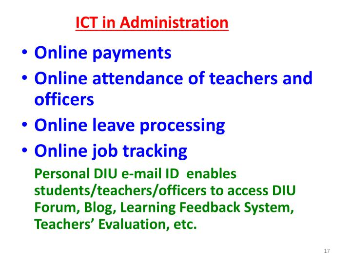 ICT in Administration