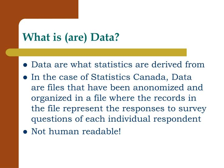 What is are data
