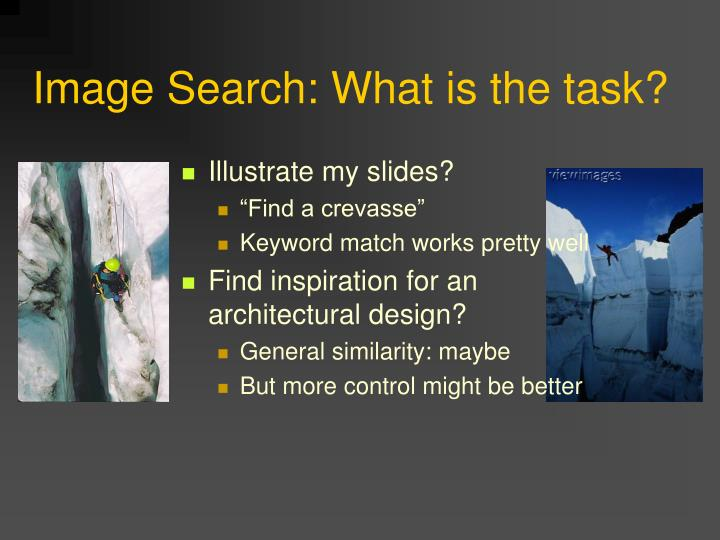 Image Search: What is the task?