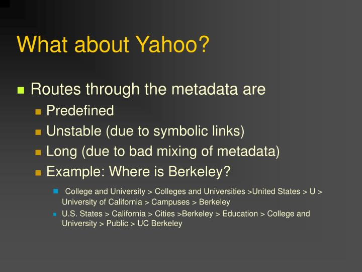 What about Yahoo?