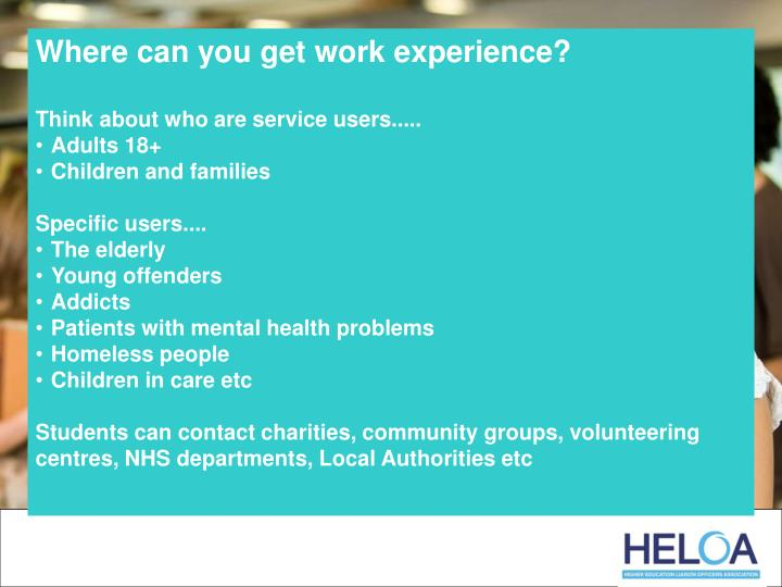 Where can you get work experience?