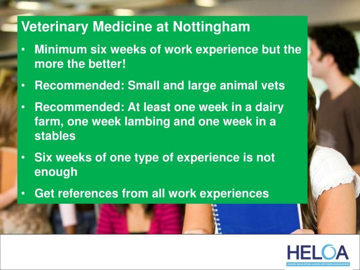 Veterinary Medicine at Nottingham