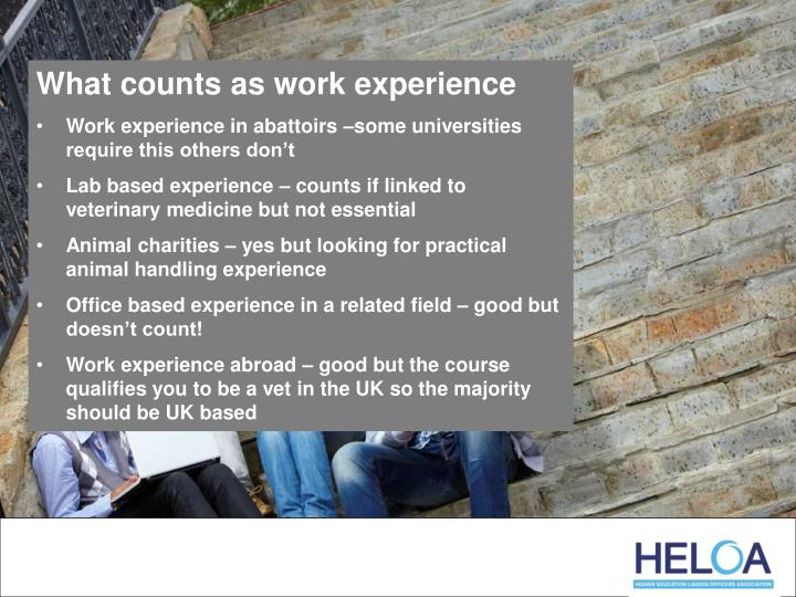 What counts as work experience