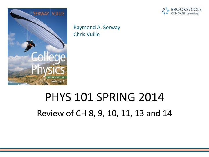phys 101 spring 2014 n.