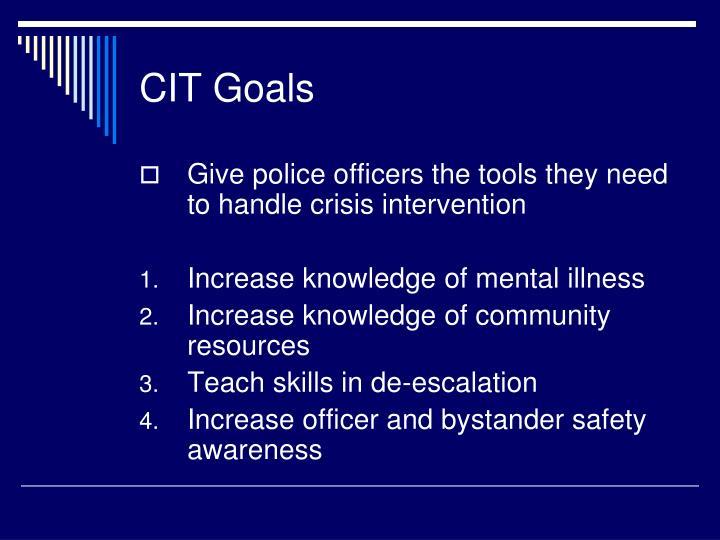 CIT Goals