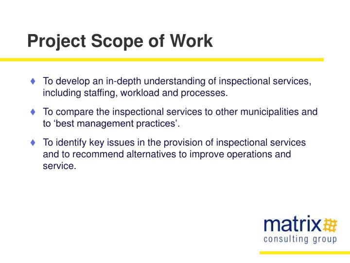 Project scope of work