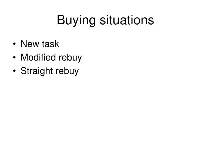 Buying situations