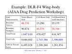 example dlr f4 wing body aiaa drag prediction workshop