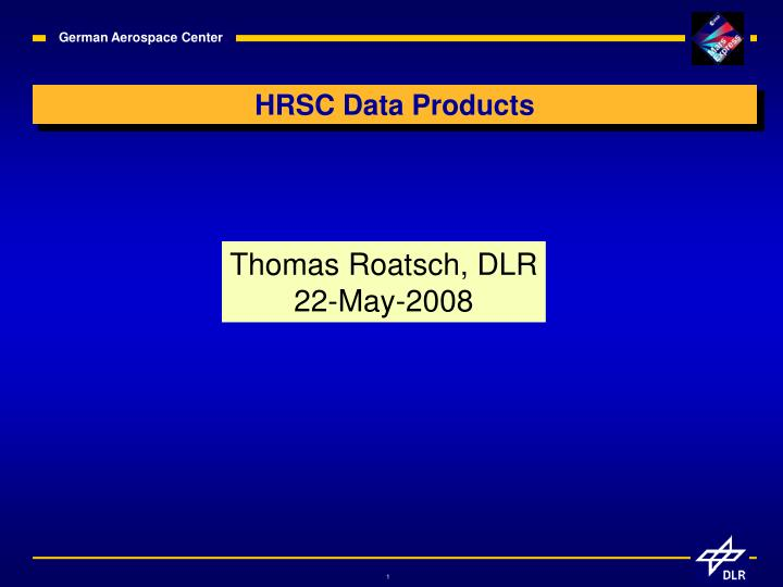 hrsc data products n.
