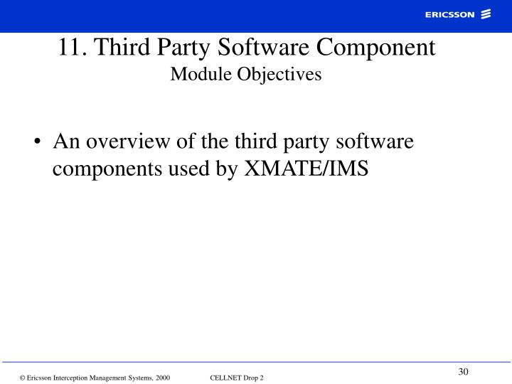 11. Third Party Software Component